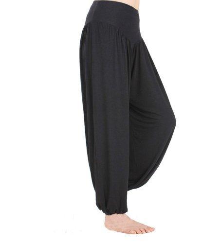 HOEREV� Super Soft Modal Spandex Harem Yoga/ Pilates Pants (Darkgray) (Medium)