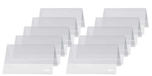 Sigel TA136 Tischaufsteller Dachform 10er Pack für 10 x 6 cm - weitere Größen