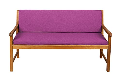 Bankauflage Für Hollywoodschaukel Set Glatt Sitzkissen + Rückenlehne Sparpreise (200x50x50, Pink) F5
