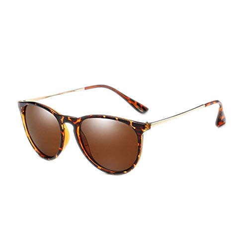 WERERT Sportbrille Sonnenbrillen Brown Polarized Sunglasses Womens Retro Vintage Sunglasses Female Fashion Mirrored Eyewear