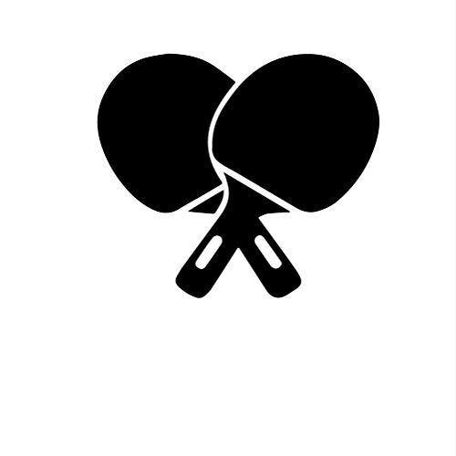 Zfkdsd Schönheit Tischtennisschläger Wandaufkleber Entfernbare Wandaufkleber Diy Tapete Für Kinderzimmer Wohnkultur Wandtattoo Wohnkultur 30 * 34 Cm