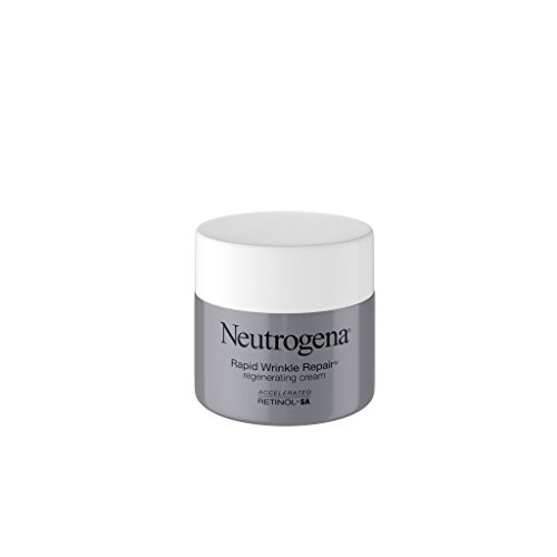 Neutrogena Schneller Wrinkle Repair Retinol Regenerations-Gesichtscreme & Hyaluronsäure Anti-Falten-Gesichtscreme, Halscreme mit Hyaluronsäure & Retinol, 1,7 Unzen