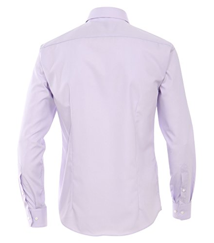 Michaelax-Fashion-Trade - Chemise casual - Uni - Col Chemise Classique - Manches Longues - Homme Lila (901)