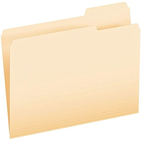 Pendaflex - File Folder,1/3 Cut Right Tab,Letter,1-Ply, Manila, Sold as 1 Box, ESS752133 - Esselte Esselte Pendaflex File