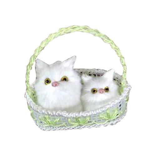 Bascar Katze Niedlichen Plüsch Katze Weiches Tier Spielzeug Puppe Mini Simulation Kinder Mädchen Fügen Sie eine Festliche Atmosphäre zur Inneneinrichtung Hinzu -