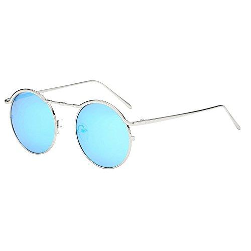 Honestyi Frauen Unisex Mode Runde Shades Acetat Rahmen UV Brille Sonnenbrillen BZ597 Herren und Damenmode Kreissonnenbrille