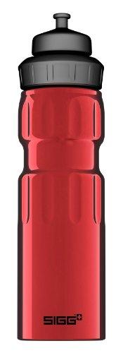 Sigg Trinkflasche Bottle Wmb Sports Red 0,75l, Rot (Schweizer-wasser-flasche Aluminium)