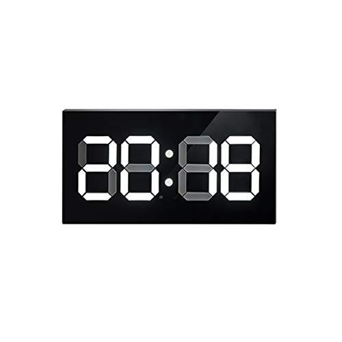 CCDYLQ Digitale LED-Wall-Uhr, Mute Clock Multi Functional Countdown Timer mit Fernbedienung Temperaturdatum für Office Home Airport Gymnasium