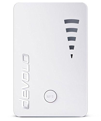 Devolo 9790 WiFi Repeater ac (1200 Mbit/s, 1x Port Gigabit, WPS, Répéteur WiFi, Amplificateur WiFi, Augmenter Portée Wifi, Affichage de l'Intensité du Signal, Access Point ), Blanc