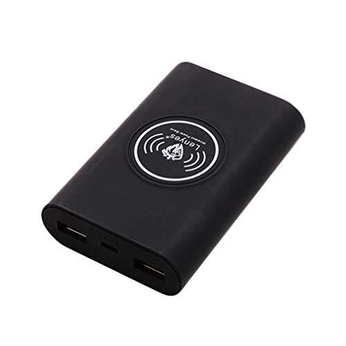 XUNMAIF ELE High Wireless Power Bank,Ladegerät mit Großer Kapazität Ultrakompakte Externe Batteriebank mit 3 Ausgängen,Kompatibel mit Samsung S10/S9/S8/S7/Note 9/8/7 und mehr Speed Smartphone, Black