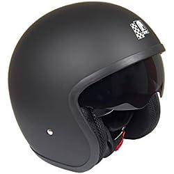 Römer Custom Casco de Motocicleta, Negro Mate, M