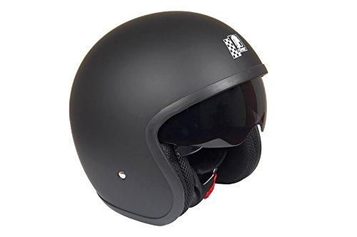 Römer Helmets Motorradhelm Custom, Matt Schwarz, Größe M