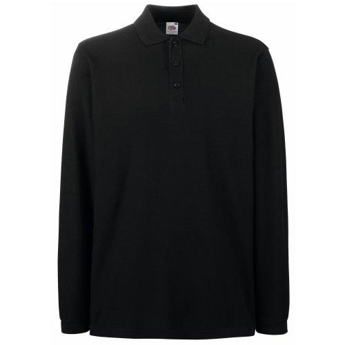 Fruit Of The Loom Premium Herren Polo-Shirt, Langarm Red