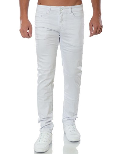Herren Jeans Chino Hose Regular Fit Stretch No 15660 Weiß