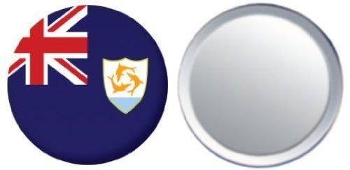 Miroir insigne de bouton Anguilla drapeau - 58mm