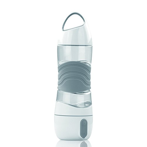 HALOViE 400 ML Botella de Agua Deportiva humidificador Viaje Deportes Purificador difusor de Aroma de Aire ultrasónico con Carga USB Luz LED Emergencia SOS