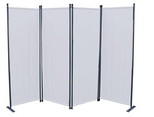 GRASEKAMP Qualität seit 1972 Paravent 4tlg Raumteiler Trennwand Sichtschutz Weiß