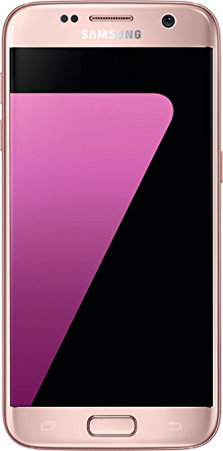 Samsung Galaxy S7 Smartphone (12,92 cm (5,1 Zoll) Touch-Display, 32GB interner Speicher, Android OS) pink (Samsung Pink Handy)
