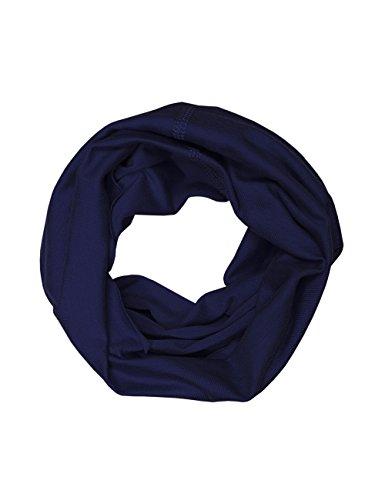 maximo Jungen Halstuch Multifunktionstuch, Einfarbig, Gr. 2, Blau (dunkelmarine) - Elasthan Stretch-fleece-stirnband