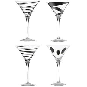 LSA International Jazz verres à Martini ou Cocktail x 4