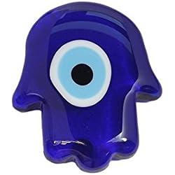 Magnete Deko - aus Glass Fatimas Hand Hamsa Nazar Boncuk Auge - Blau