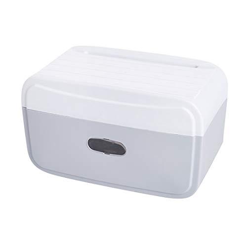 AAPP SHOP Punch-freie Wasserdichte WC-Hand Karton Tissue-Box Toilettenpapier Rinnenschale kreative Toilettenpapier Rackgrau