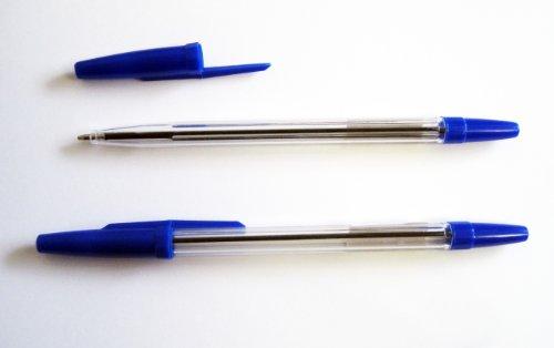 Kugelschreiber Set mit Einwegkugelschreiber - 50 Stück - Kugelschreiber in der Farbe blau