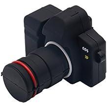MagiDeal USB2.0 Pendrive Flash Drive Palo de Memoria Forma Cámara de Dibujos Animados Modelo - Negro-64gb
