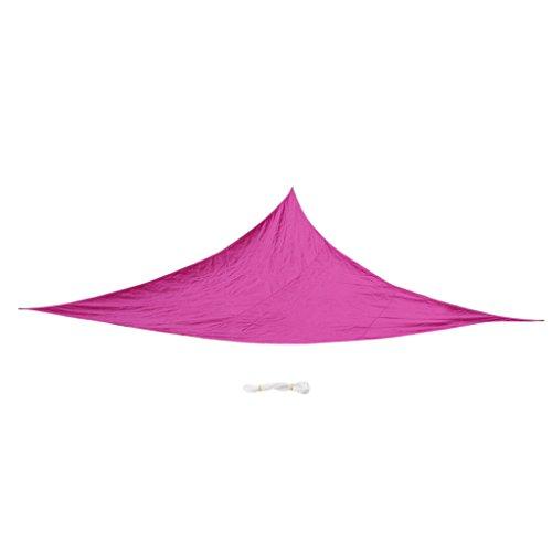 Sharplace Voile d'Ombrage Imperméable Auvent de Triangle Lavable Résistant Soleil Durable - Rose Rouge, 5m