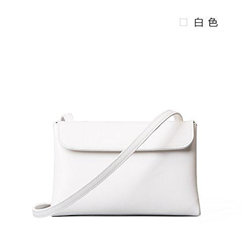 Nouveau simple sac d'épaule bandoulière en cuir sacs à main d'origine White