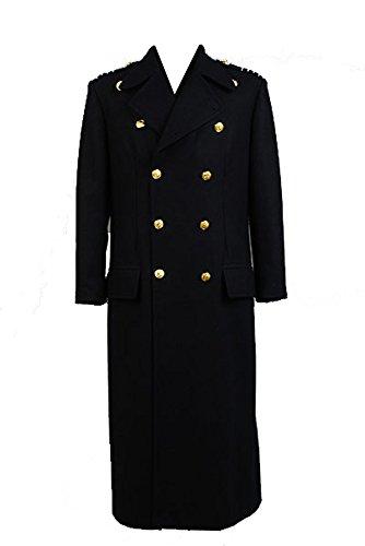 Preisvergleich Produktbild Torchwood Doctor Captain Jack Harkness Wool Trench Coat Dunkelblau Cosplay Kostüm Version Herren Maßanfertigung