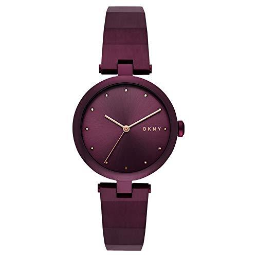 DKNY Damen Analog Quarz Uhr mit Edelstahl Armband NY2754 (Damen Uhren Lila)