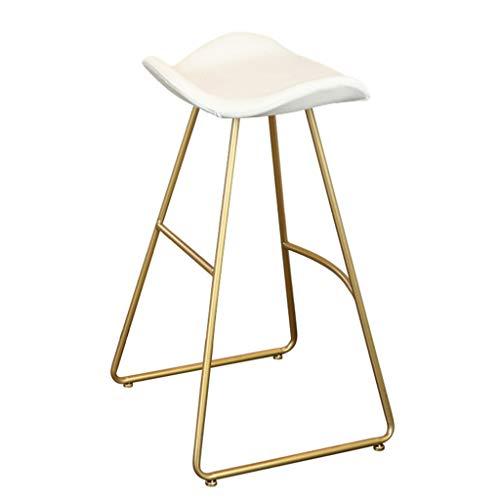 Bar-stuhl-seat-kissen (ch-AIR Industriestil Barhocker | Vintage Stuhl Mit Rückenlehne aus Eisen PU-Kissen für Bar-Küche (Color : Color#1, Size : Seat Height: 75cm))