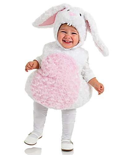 Horror-Shop Kuschelweiches Kaninchen Baby & Kleinkinderkostüm aus Plüsch M, L, XL XL (Kaninchen Kleinkind Halloween Kostüm)