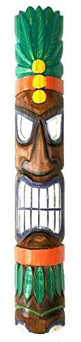 Wohnkult Tiki Wandmaske 100 cm Hawaii Maske aus Holz Wandbrett Wandschild Südsee Party Bar