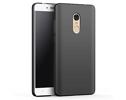 EIISSION Case Kompatibel mit Xiaomi Redmi Note 4X Hülle, Hardcase Ultra Dünn Xiaomi Redmi Note 4X Schutzhülle aus Hart-PC Case Cover Handyhülle für Xiaomi Redmi Note 4X (Schwarz)