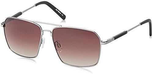 Joe Black Gradient Square Unisex Sunglasses - (JB-814-C2|57|Brown Color)