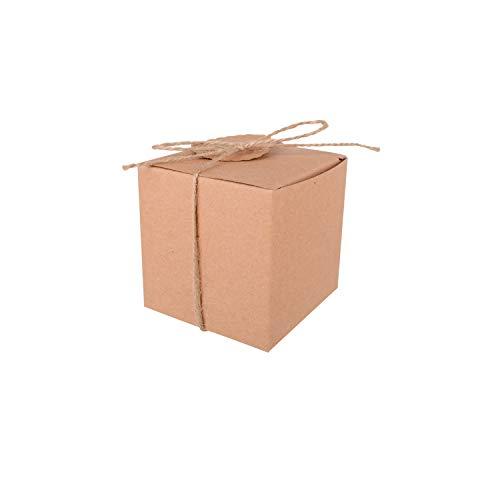 Neihou GP02401 Kraft Hochzeit Gunsten Boxen 100 Stücke DIY Kraft Süßigkeitskästen für Hochzeit Gefälligkeiten Baby Dusche Favor MEHRWEG (Hochzeit-boxen Gefälligkeiten Für)