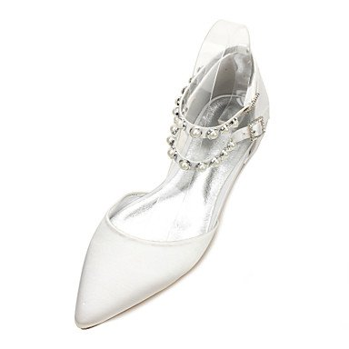 RTRY Donna Scarpe Matrimonio Maryd'Orsay &Amp; In Due Pezzi In Raso Comfort Primavera Estate Party Di Nozze &Amp; Abito Da Sera Strass Heelivory Piatta US7.5 / EU38 / UK5.5 / CN38