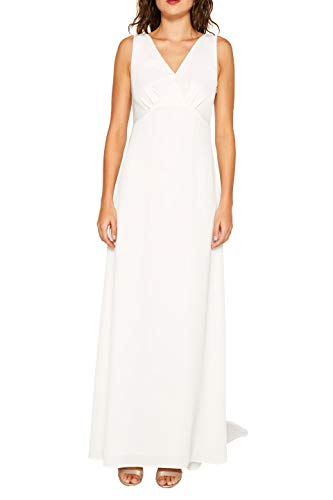 ESPRIT Collection 039EO1E017 Robe, Blanc (Off White 110), 42 (Taille Fabricant: 40) Femme