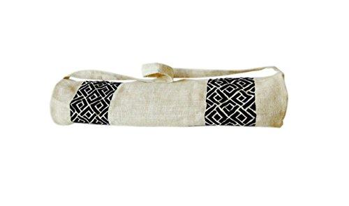 Handarbeit Yogamatte Staubbeutel mit Exquisit entworfene Detaillierte Chippendale Stickerei Muster-Personalisierte Jute Taschen Yoga-ta...