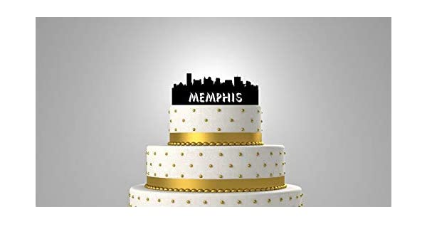 Magnificent Memphis Tennessee City Skyline Personalized Wedding Cake Topper Personalised Birthday Cards Sponlily Jamesorg