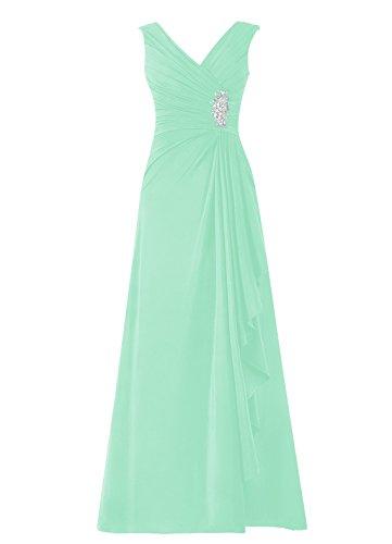 Dresstells, robe de soirée, robe longue de cérémonie, robe de demoiselle d'honneur Menthe