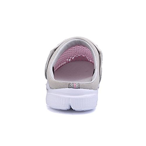 Anti Strand Sandalen Pantoletten Flach Breathable Mesh Schuhe Flach Pantoletten Herren Damen Unisex Pink