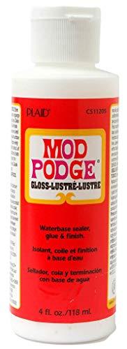 Mod Podge Glanz 4 oz, Synthetisches Material, Weiss, 12.7 x 4.3 x 4.3 cm Ltd Plaid