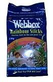 webbox ARCOBALENO Bastoncini GALLEGGIANTE MANGIME PER PESCI PER KOI & pesci da laghetto 2.5KG kg