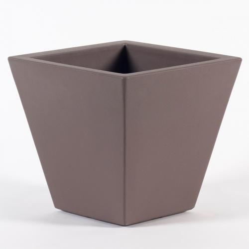 Pot de fleur intérieur & extérieur - L.40cm x l.40cm x H.40cm - Couleur TAUPE
