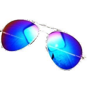 Sonnen-Brille UV Schutz Herren Damen Sun-Glasses Aviator Flieger-Brille Piloten-Brille Nerd-Brille