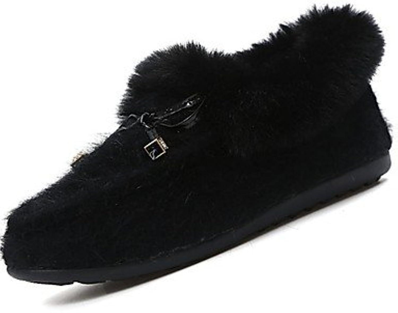 Wuyulunbi@ Scarpe Donna Comfort per per per l'Inverno Appartamenti tacco piatto Round toe all'aperto,nero,US6   EU36...   Materiali Selezionati Con Cura  76d703
