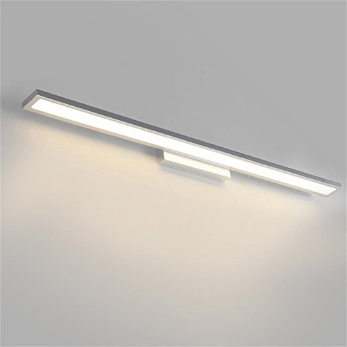 SKC LIGHTING Moderno simple impermeable Anti-niebla cuarto de baño Dresser lujo LED espejo faros ( Color : Luz calida , Tamaño : 12W-60CM )